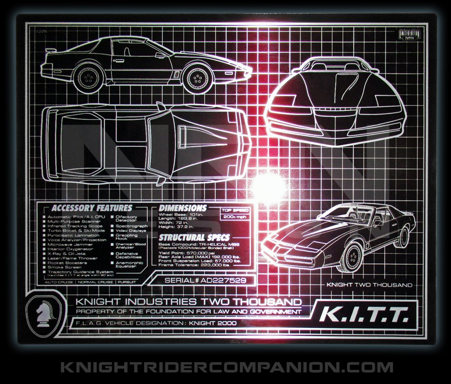 K I T T  SCHEMATIC 8 x 10 METAL PLATE