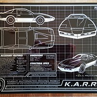 K.A.R.R. Schematic 8 x 10 Metal Plate