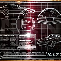 K.I.T.T. Schematic 8 x 10 Metal Plate